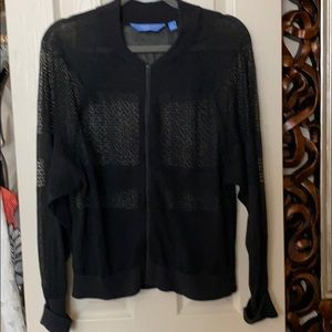 Sheer zip up cover up sweater